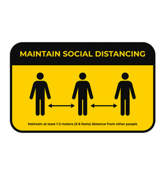 Maintain social distancing keep safe distance in vector