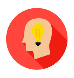 man head lamp circle icon vector image