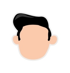 Man male avatar head person icon graphic vector