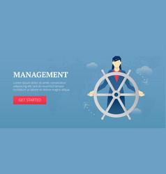 Management web banner vector