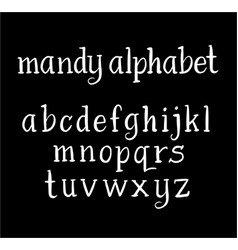mandy alphabet typography vector image