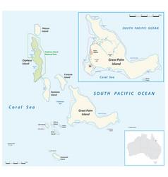 Map of the palm islands queensland australia vector