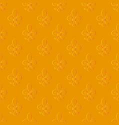 mardi gras seamless pattern with a golden vector image