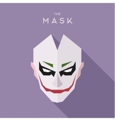 Mask on head of the anti-hero villain style vector
