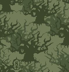 Military camouflage background of old trees vector