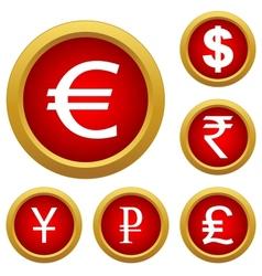 Money set buttons vector image