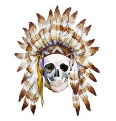 Native skull vector