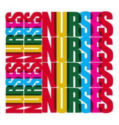 Nurses template design vector