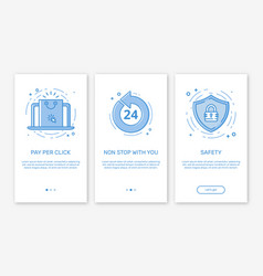 Onboarding app screens vector