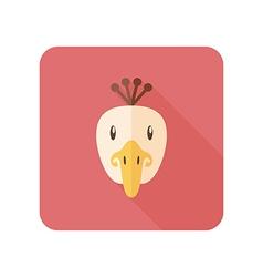 Peacock flat icon Animal head vector image