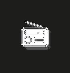 retro radio icon - media and music symbol vector image