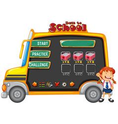 School bus game template vector