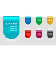 Set of labels badges vector