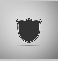 shield icon on grey background guard sign vector image