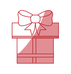 Shopping gift box vector