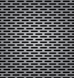 Silver metal background with elongated grill slots vector