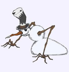 Snowman colored vector