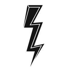 Speed lightning bolt icon simple style vector