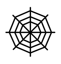 spider web icon on white background linear icon vector image