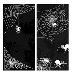 Spiders web silhouette spooky nature vector