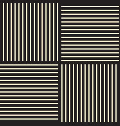 square line seamless pattern vector image
