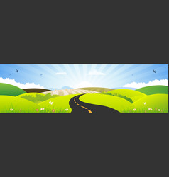 Summer and spring season horizontal banner vector