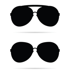 sunglasses black vector image