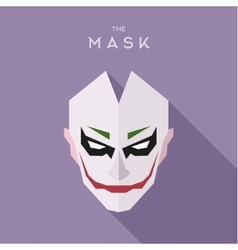 The mask on head of the anti-hero villain style vector