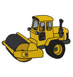 The yellow road roller vector