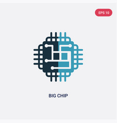 Two color big chip icon from technology concept vector