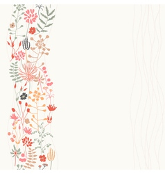 Vertical seamless floral background vector