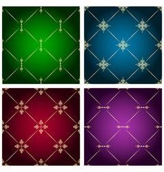 Vintage seamless patterns vector