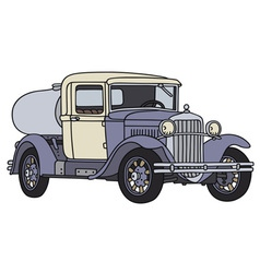 Vintage tank truck vector image