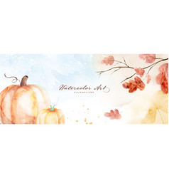 Watercolor autumn abstract background vector