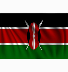 Waving kenya vector