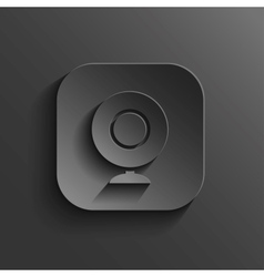 Webcamera icon - black app button vector image