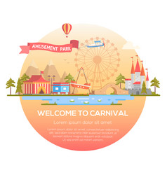 Welcome to carnival - modern vector