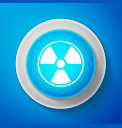 white radioactive icon radioactive toxic symbol vector image