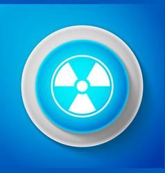 white radioactive icon radioactive toxic symbol vector image