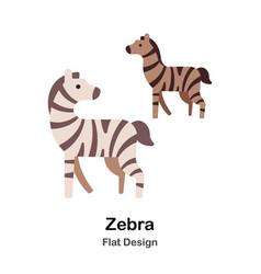 Zebra flat icon vector