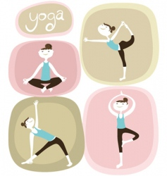 zen and yoga icons vector image