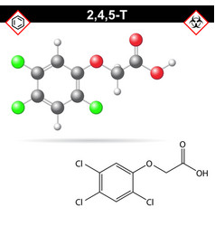 245-t chemical structure trichlorophenoxyacetic vector image vector image