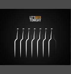 beer bottle concept design background vector image