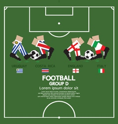 Group D 2014 Football Tournament vector image vector image