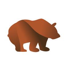 wild bear animal jungle pet logo silhouette of vector image