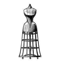 dress form vector image