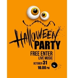 Halloween party Happy holiday vector image vector image