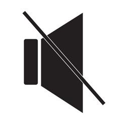 mute sound icon on white background mute sound vector image