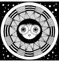 puffer fish zentangl graphic arts vector image vector image