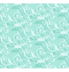 simple floral green seamless vector image